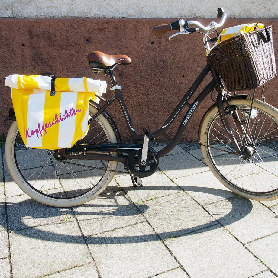 neues aus dem beutelversum stripes fahrradtaschen. Black Bedroom Furniture Sets. Home Design Ideas