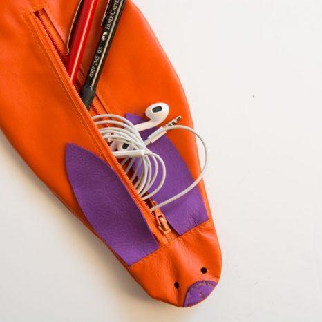 Hasenmäppchen aus Leder von krambeutel deine Wunschtasche genäht von stefanie ramb in München