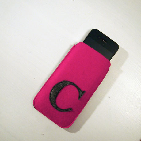 Smartphone-Hülle aus Wollfilz
