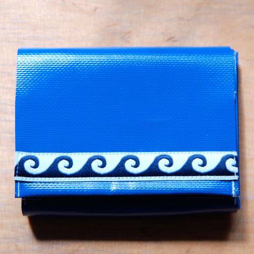 Geldbeutel Spezial blau mit Wellen