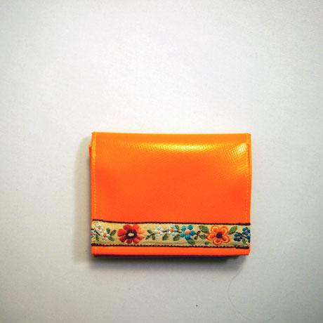 Geldbeutel, Portemonnaie, LKW-Plane, krambeutel, Trachtenborte, Blumenborte