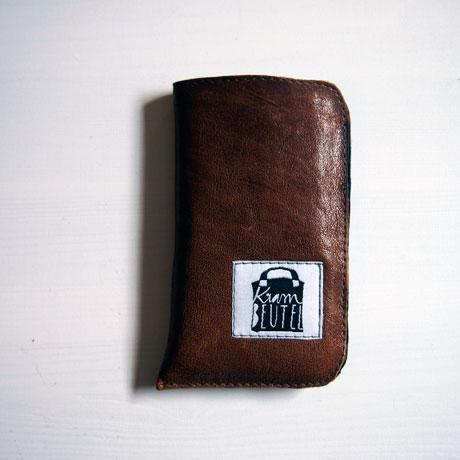 Smartphone Hülle, Etui, Leder, Wollfilz, krambeutel