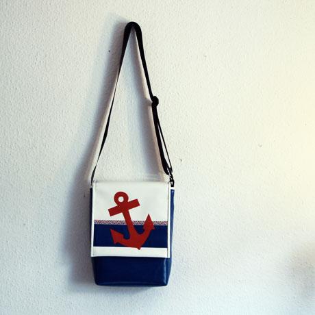 Umhängetasche mit Anker / www.krambeutel.de / krambeutel Deine Wunschtasche Stefanie Ramb