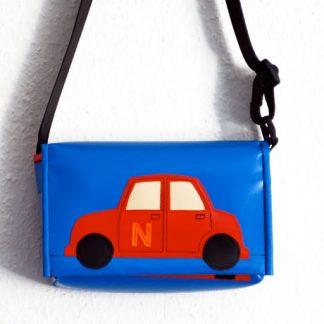 Kindergartentasche mit Auto / krambeutel Deine Wunschtasche / www.krambeutel.de