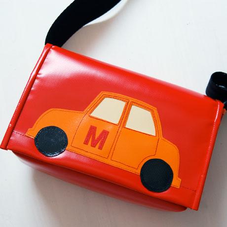 kindergarten tasche zum umhängen mit auto / krambeutel.de / krambeutel Deine Wunschtasche / Stefanie Ramb