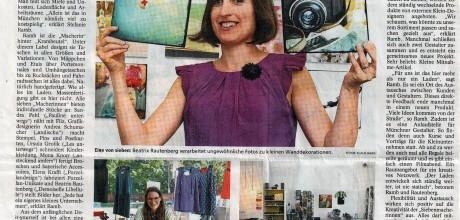 siebenmachen krambeutel Deine Wunschtasche Atelierladen München Giesing Artikel im Münchner Merkur 19.8.2013 August 2013