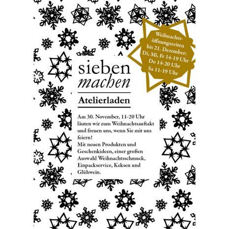 Adventauftakt im siebenmachen atelierladen, st. bonifatius str. 20, münchen-obergiesing / laden für handgemachtes in münchen