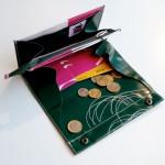 Geldbeutel XL aus LKW-Plane mit wirren Kreisen / krambeutel Deine Wunschtasche / Stefanie Ramb München / www.krambeutel.de