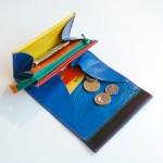 Geldbeutel Größe S aus LKW Plane mit wilden Nähten / krambeutel Deine Wunschtasche / www.krambeutel.de / Stefanie Ramb München