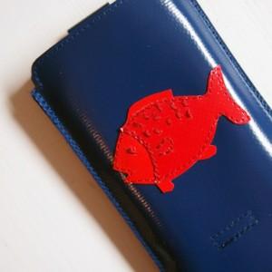 Smartphonehülle aus Lkw-Plane mit Fisch www.krambeutel.de krambeutel Deine Wunschtasche Stefanie Ramb München Maßanfertigung
