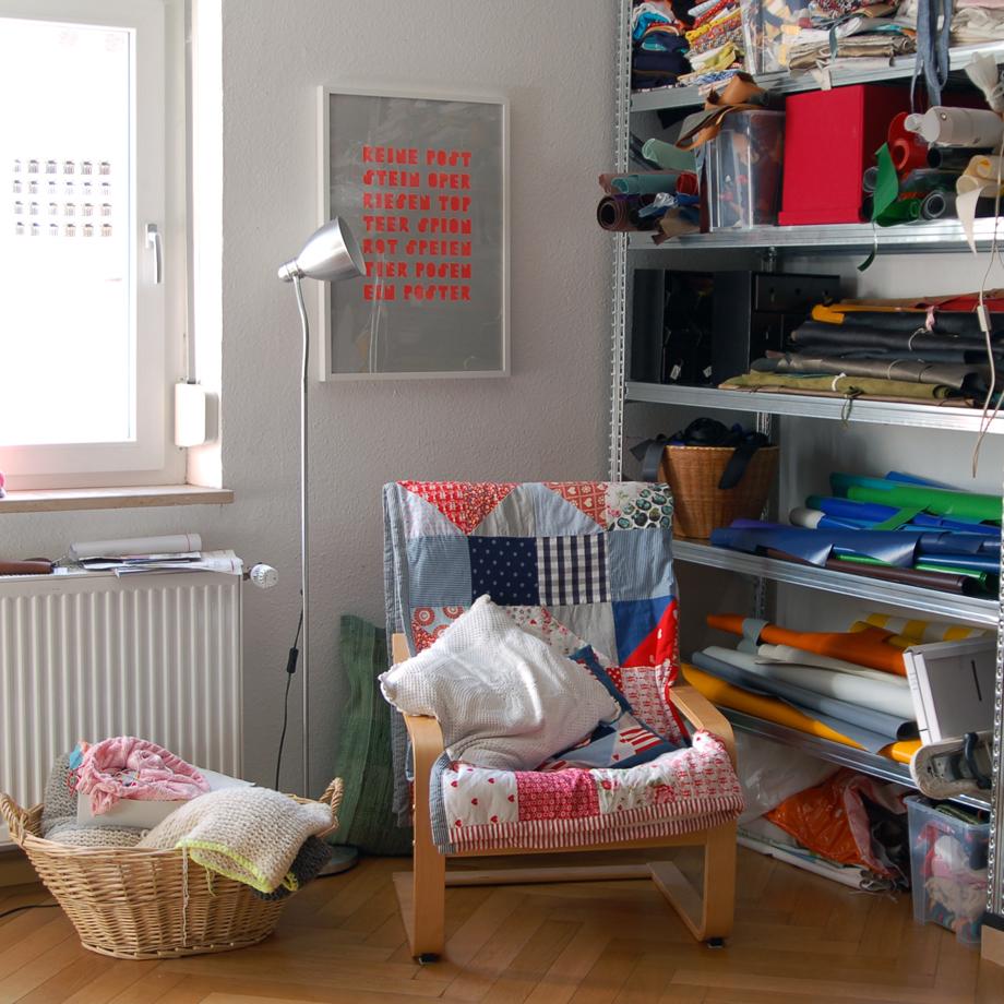 krambeutel Arbeitszimmer und Werkstatt in München Neuhausen / www.krambeutel.de krambeutel Deine Wunschtasche Stefanie Ramb
