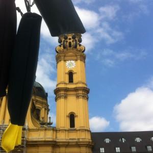 krambeutel beim Stadtgründungsfest München 2014 am Odeonsplatz / www.krambeutel.de / krambeutel Deine Wunschtasche / Stefanie Ramb / handgefertigte, maßgeschneiderte Taschen und Beutel aus LKW-Plane und Leder