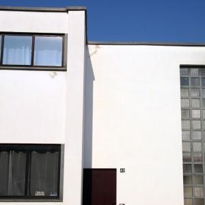 krambeutel unterwegs zum Bauhaus Dessau: Original rekonstruierte Fassade Haus Typ 2 Dessau-Törten. krambeutel Deine Wunschtasche www.krambeutel.de Stefanie Ramb München