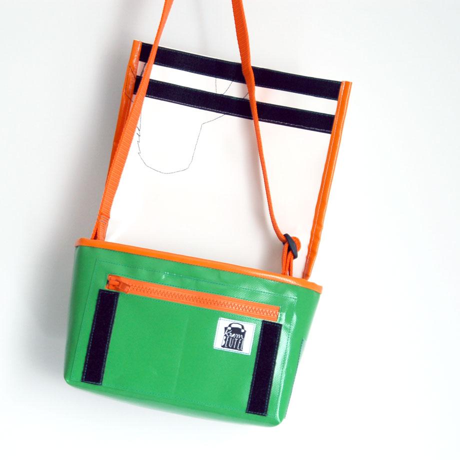 Kindergartentasche mit Monster. Design nach Kundenentwurf. krambeutel Deine Wunschtasche www.krambeutel.de Stefanie Ramb München. Maßgefertigte Beutel aus München.