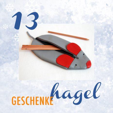 Geschenkehagel beim Etsy Team Deutschland. Zu gewinnen heute: Ein graues Mäppchen in Mäuseform von krambeutel Deine Wunschtasche München www.krambeutel.de