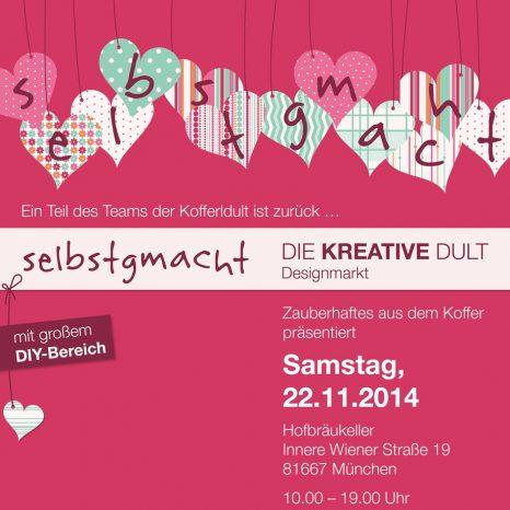 selbstgmacht-die kreative Dult am 22.11. im Münchner Hofbräukeller. Mit dabei: krambeutel Deine Wunschtasche www.krambeutel.de