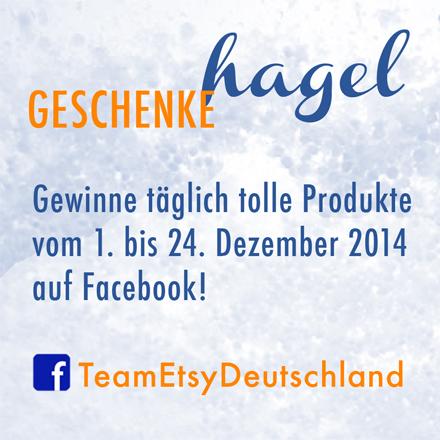 geschenkehagel Adventskalender des Team Etsy Deutschland auf facebook