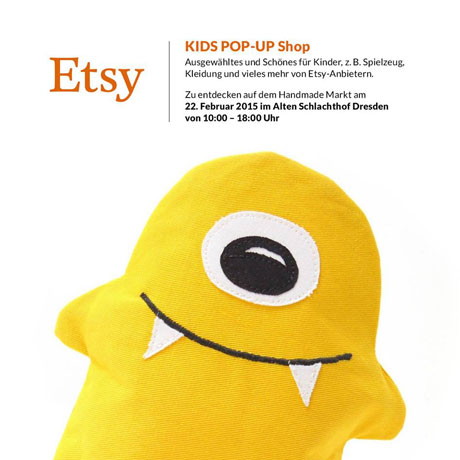 """krambeutel beim Etsy Kids Pop Up Shop am Sonntag, den 22.02.2015, von 10 - 18 Uhr im Rahmen des """"HandmaDDe Markt"""" im Alten Schlachthof Dresden"""