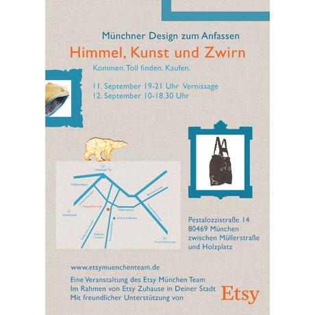 himmel, Kunst und zwirn - ein Pop up shop des Etsy München Team am 12. September in der Münchner Pestalozzistraße 14. Im Rahmen von Etsy Zuhause in Deiner Stadt. www.etsy.de www.etsymuenchenteam.de