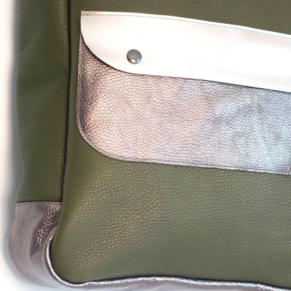 robuste Einkaufstasche aus Echtleder, handgemacht von krambeutel Deine Wunschtasche, Stefanie Ramb, München / www.krambeutel.de