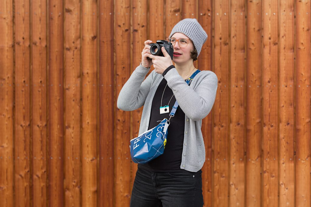 Stefanie Ramb / krambeutel / handgemacht Beutel und Taschen aus München aus recycelten Materialien Deine Wunschtasche Foto Simone Naumann