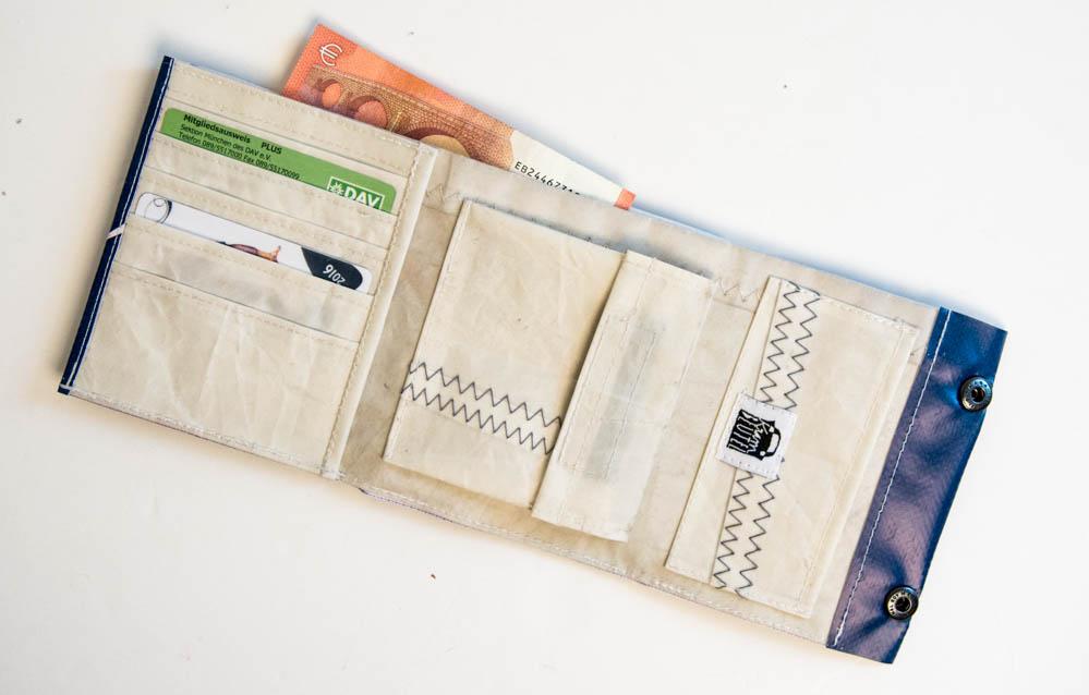 Krambeutel Deine Wunschtasche: Geldbeutel aus Banner und Segel