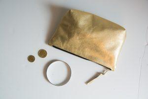 Lederetui aus goldenem Echtleder, genäht von Stefanie Ramb in München / krambeutel Deine Wunschtasche www.krambeutel.de