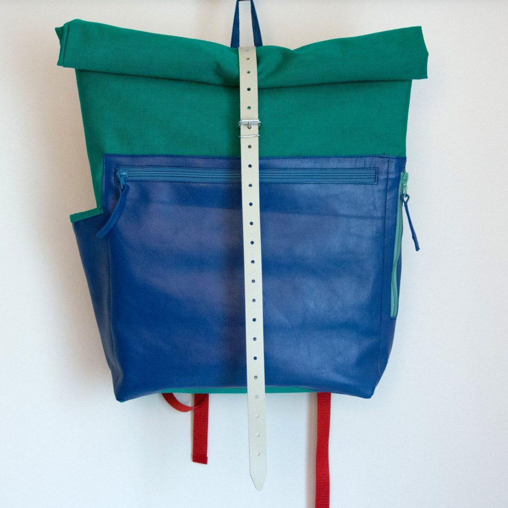 Rucksack aus Cordura und Leder, genäht von Stefanie Ramb, krambeutel Deine Wunschtasche www.krambeutel.de