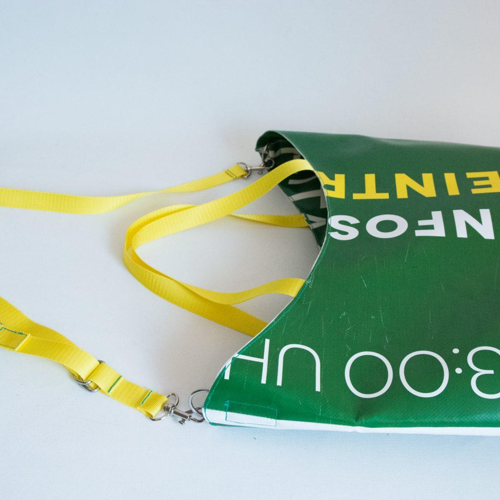 krambeutel Deine Wunschtasche Umhängetasche aus Ausstellungsbanner, genäht von Stefanie Ramb München