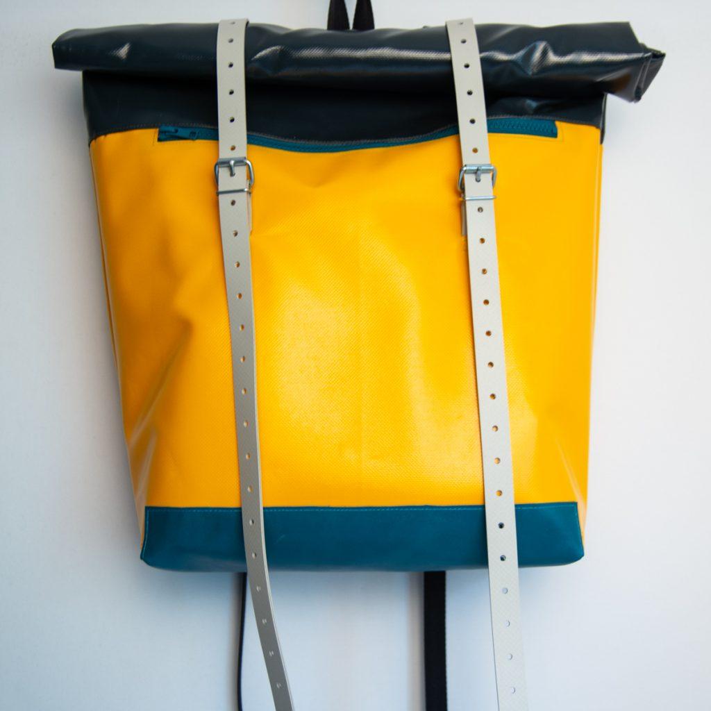 Rucksack aus LKW-Plane krambeutel